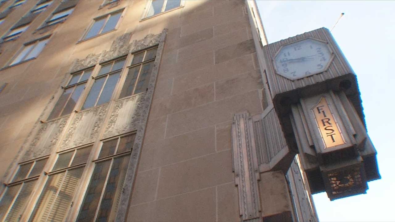 Falling Limestone, Fire To Blame For Crumbling Bank In Downtown OKC