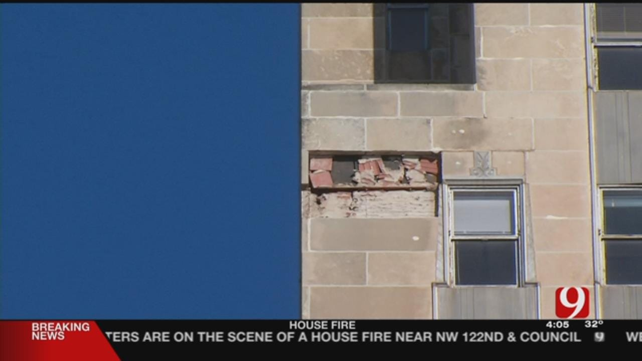 Engineers To Check Limestone Panels After Pieces Fell In Downtown OKC