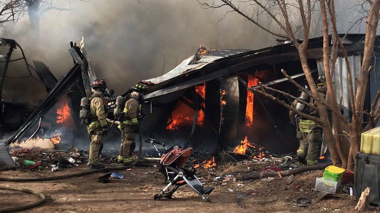 Grass Fire Spreads To RV, Outbuildings In SW OKC