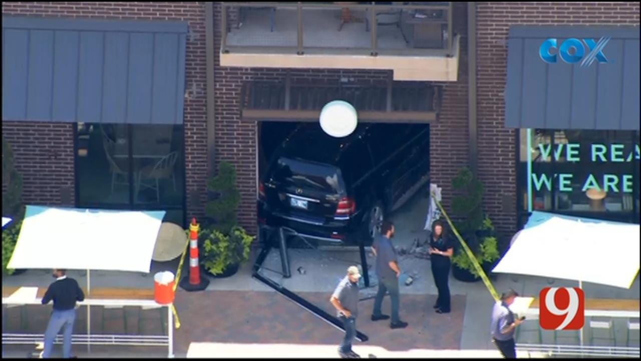 Emergency Crews Respond After Car Crashes Into Metro Business