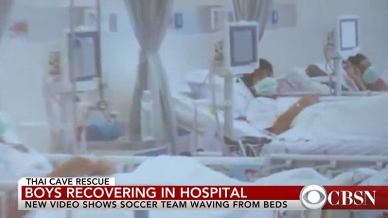 1st Video Emerges Of Thai Soccer Team Recovering In Hospital