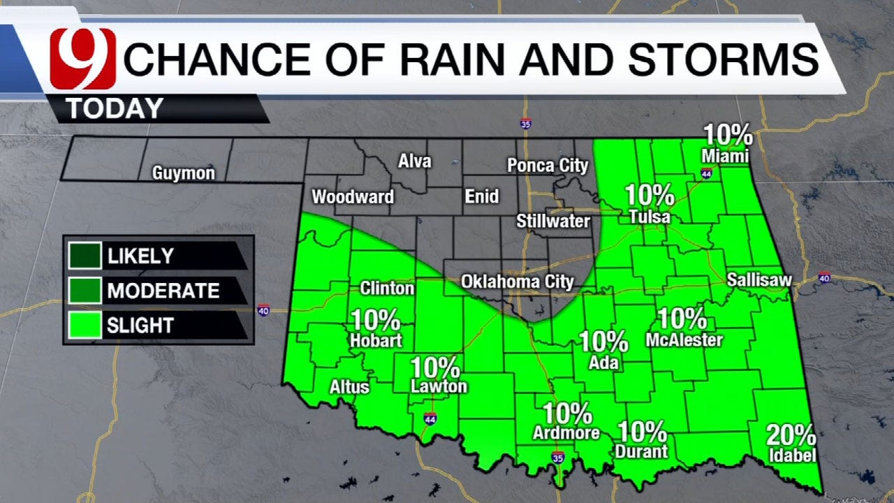 Popup Showers And Storms Across State Wednesday Afternoon
