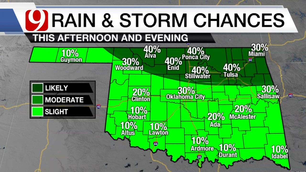 Early Week Rain And Storm Chances For State