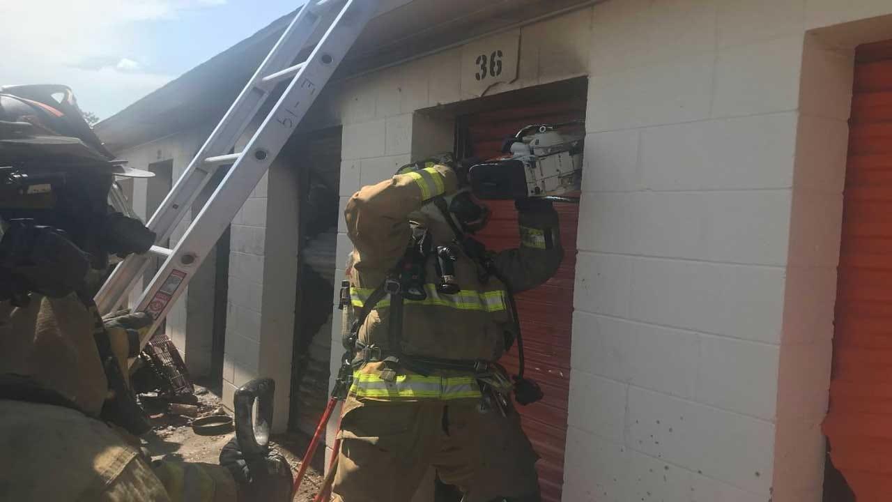 Oklahoma City Fire Responds To Storage Unit Fire In SW OKC