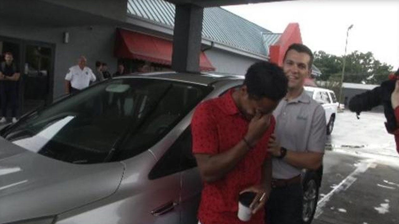 Man Walks Over A Dozen Miles To First Day Of Work, CEO Gifts Him Car