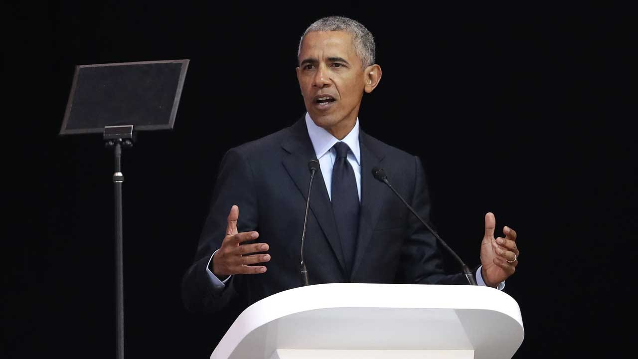 Obama Says We're In 'Strange And Uncertain Times' In Mandela Lecture