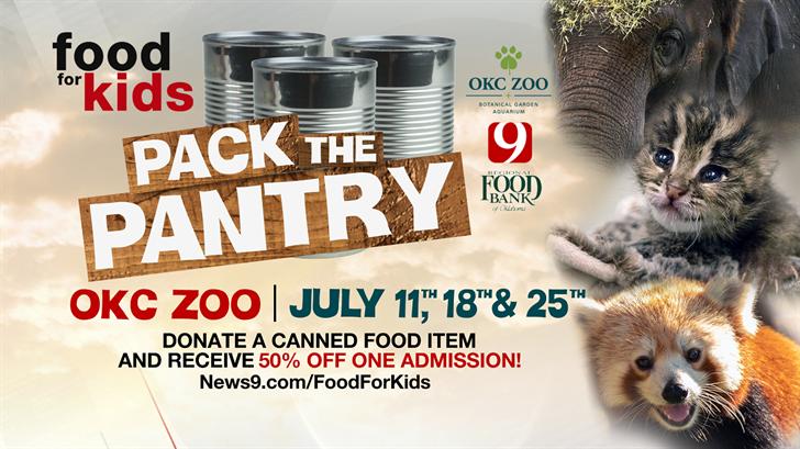 OKC Zoo, News 9 Partner To 'Pack The Pantry' Across Oklahoma