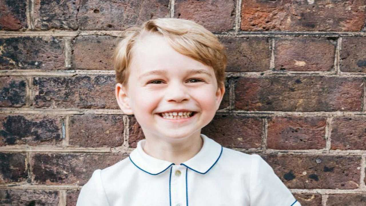 Prince George Flashes Royal Smile In Birthday Photo