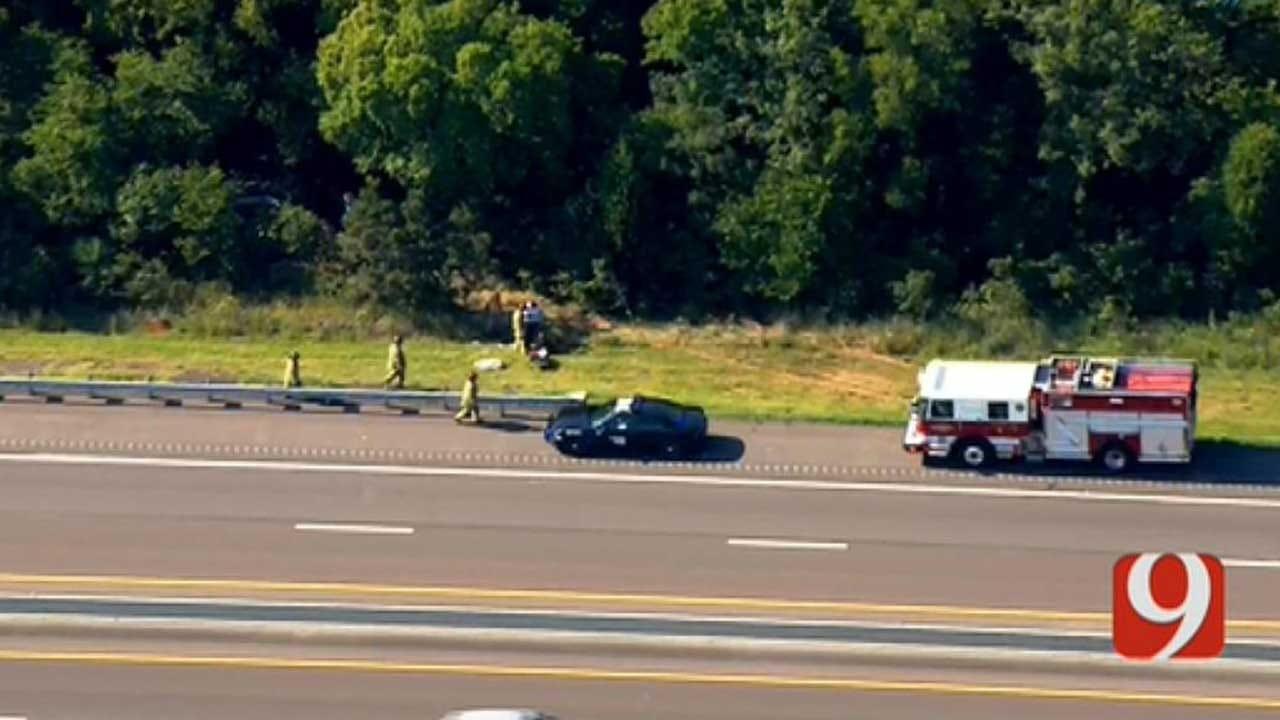 Injury Crash Reported Along Turner Turnpike Near Jones