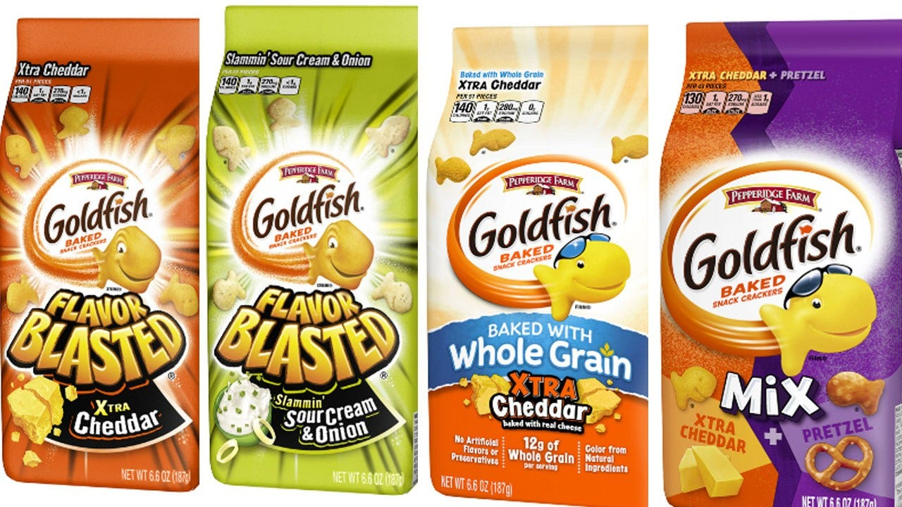 Pepperidge Farm Issues Voluntary Recall For Goldfish Crackers