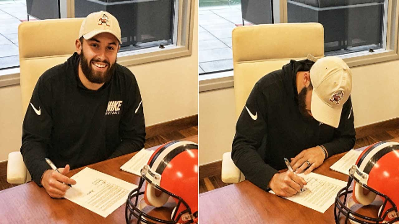 No. 1 Overall Pick Baker Mayfield Signs Rookie Deal With Browns