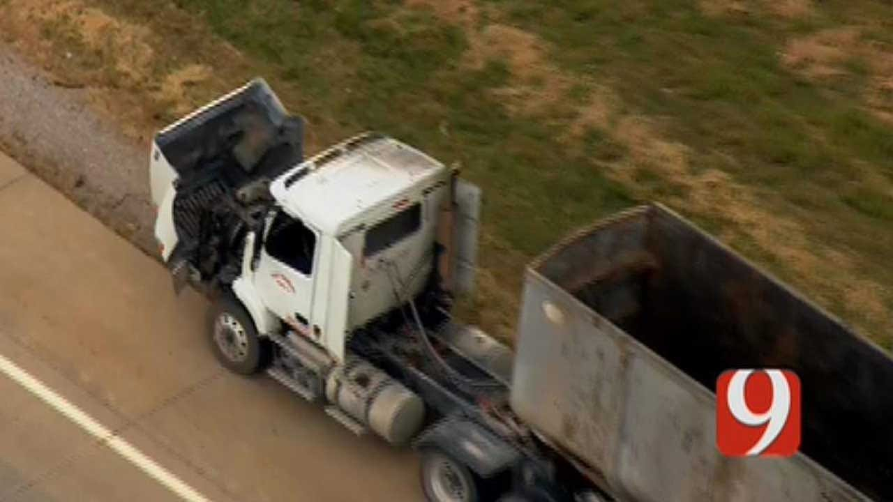 Canadian Co. Sheriff's Office: Semi Reportedly On Fire On I-40