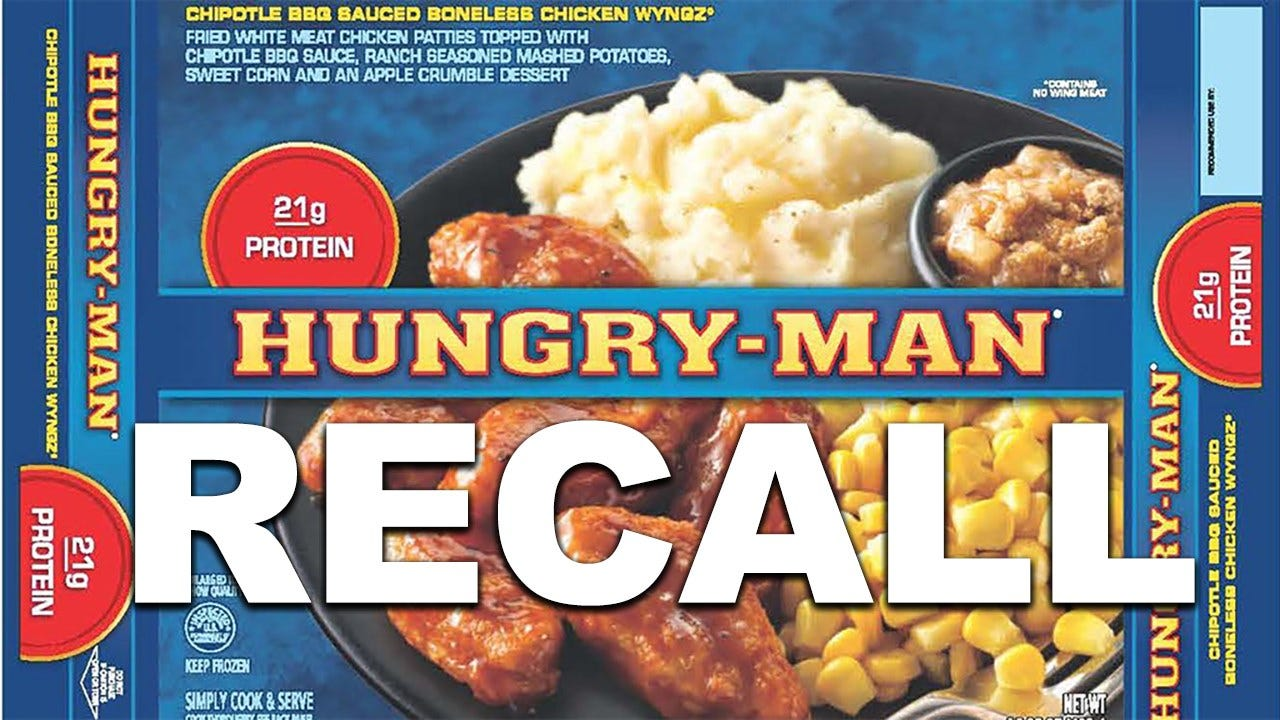 Salmonella Fears Rise, As Hungry Man And Other Products Face Recalls