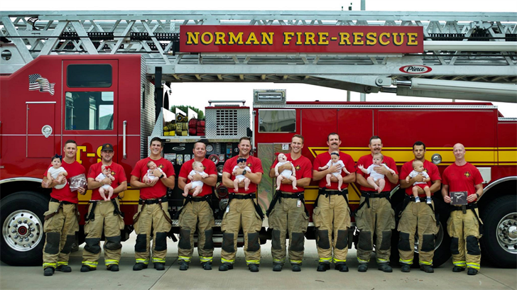 Baby Boom! Norman Fire Dept. Celebrates 9 Babies In Less Than A Year