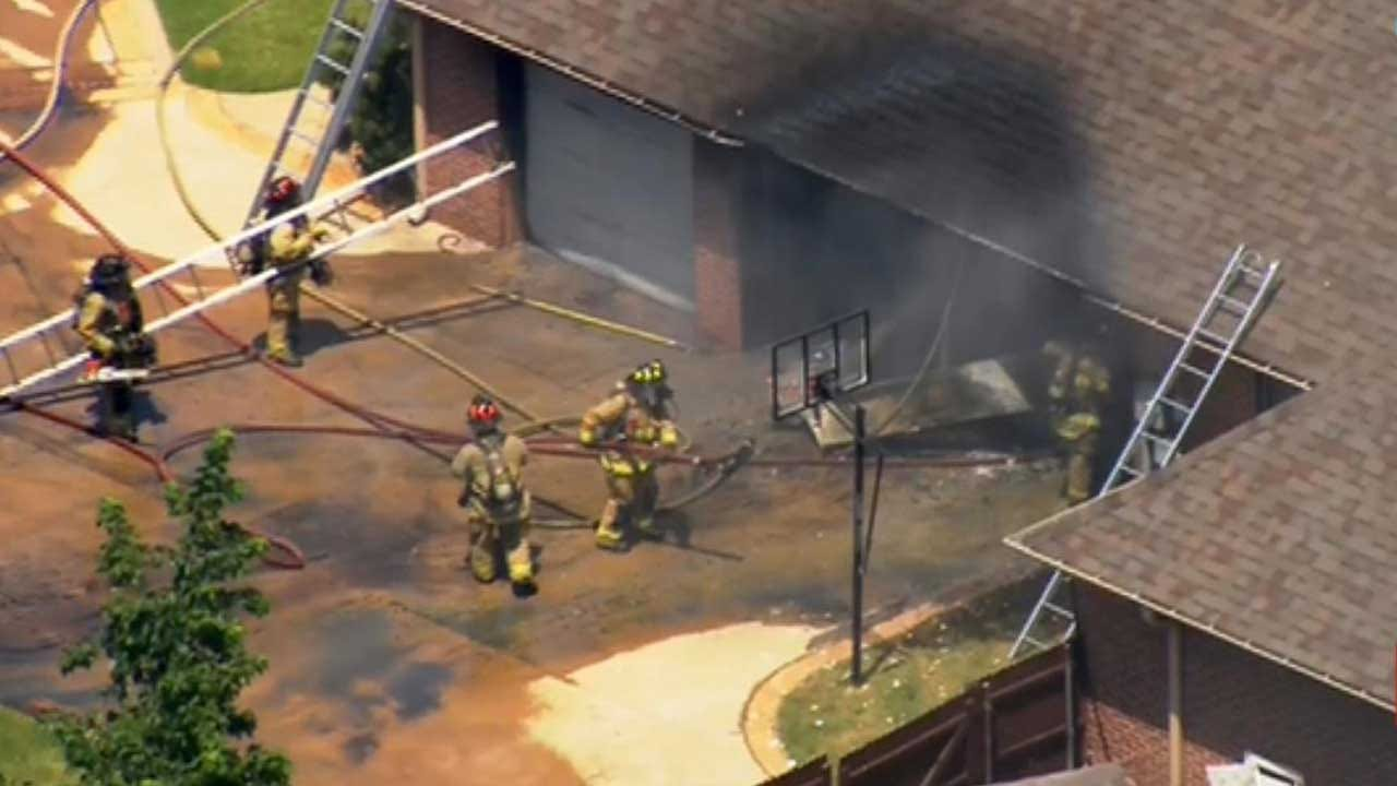 Dog Rescued In NW OKC House Fire