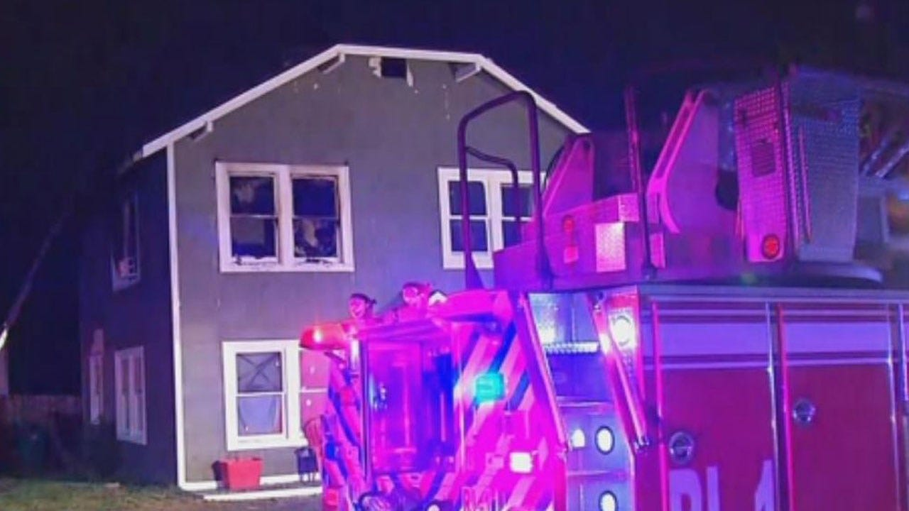 Firefighters Extinguish Fire At Vacant Home In NW OKC