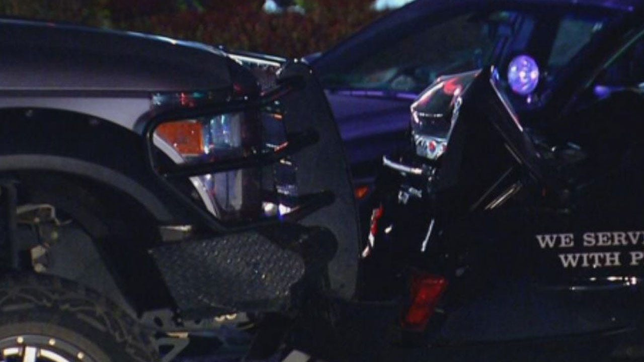 Officer Injured After Driver Rear-Ends Patrol Car In SW OKC