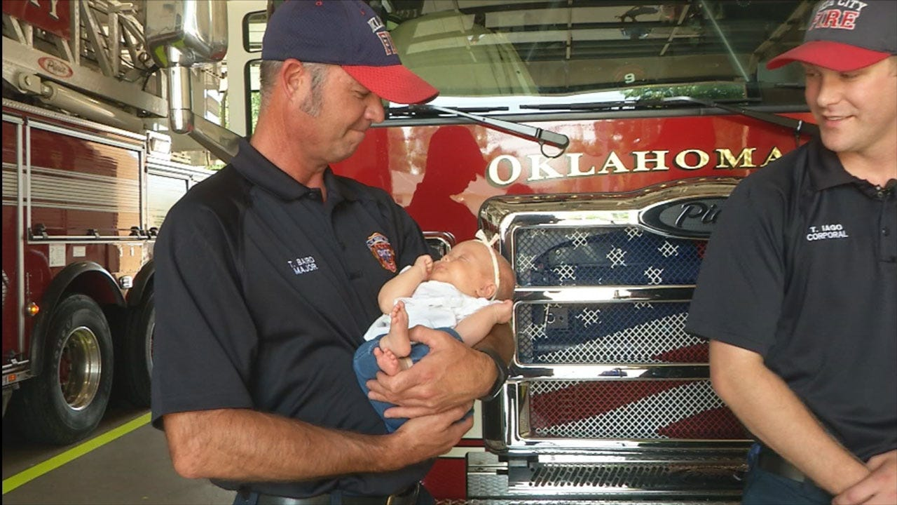 Oklahoma City Firefighter Delivers Baby