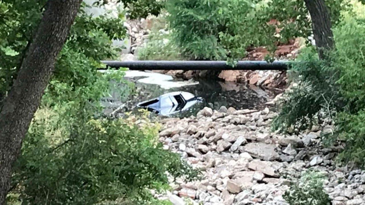 Police Recover Car From Creek In NE OKC