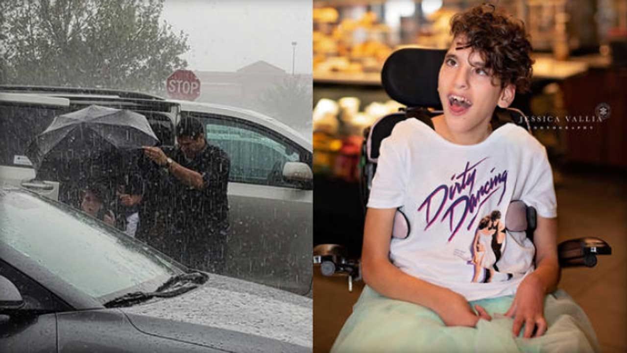 Starbucks Employee Saves Girl's Senior Portrait Photoshoot During Storm