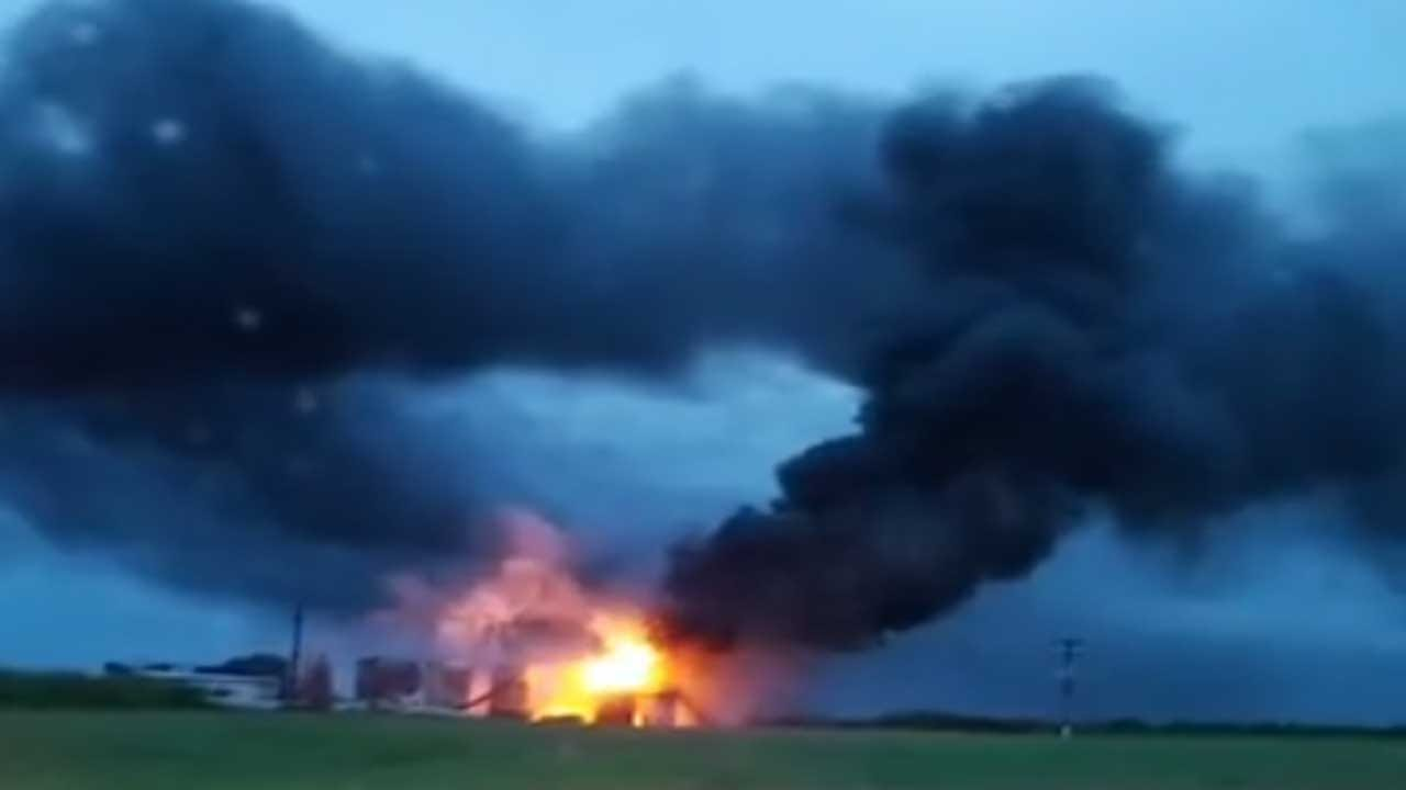 Tank Batteries Catch Fire After Struck By Lightning In Garfield Co.