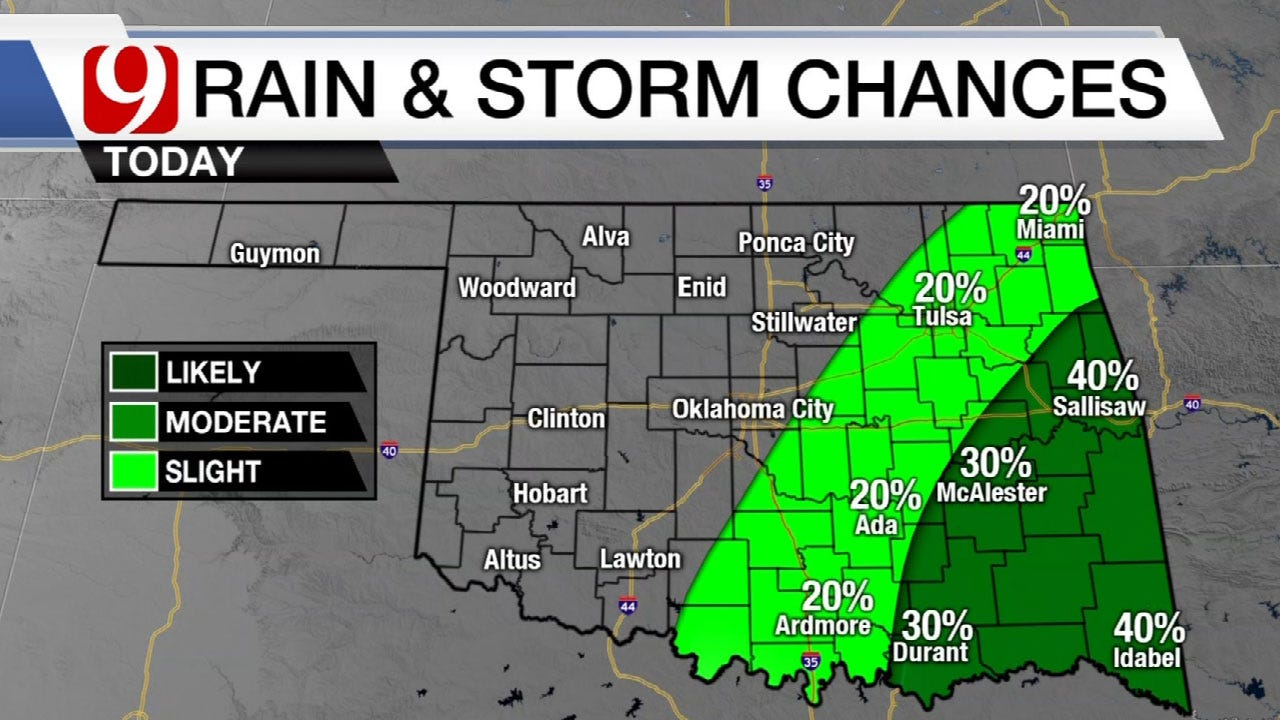Rain And Storms Chances Increase Thursday Into Weekend