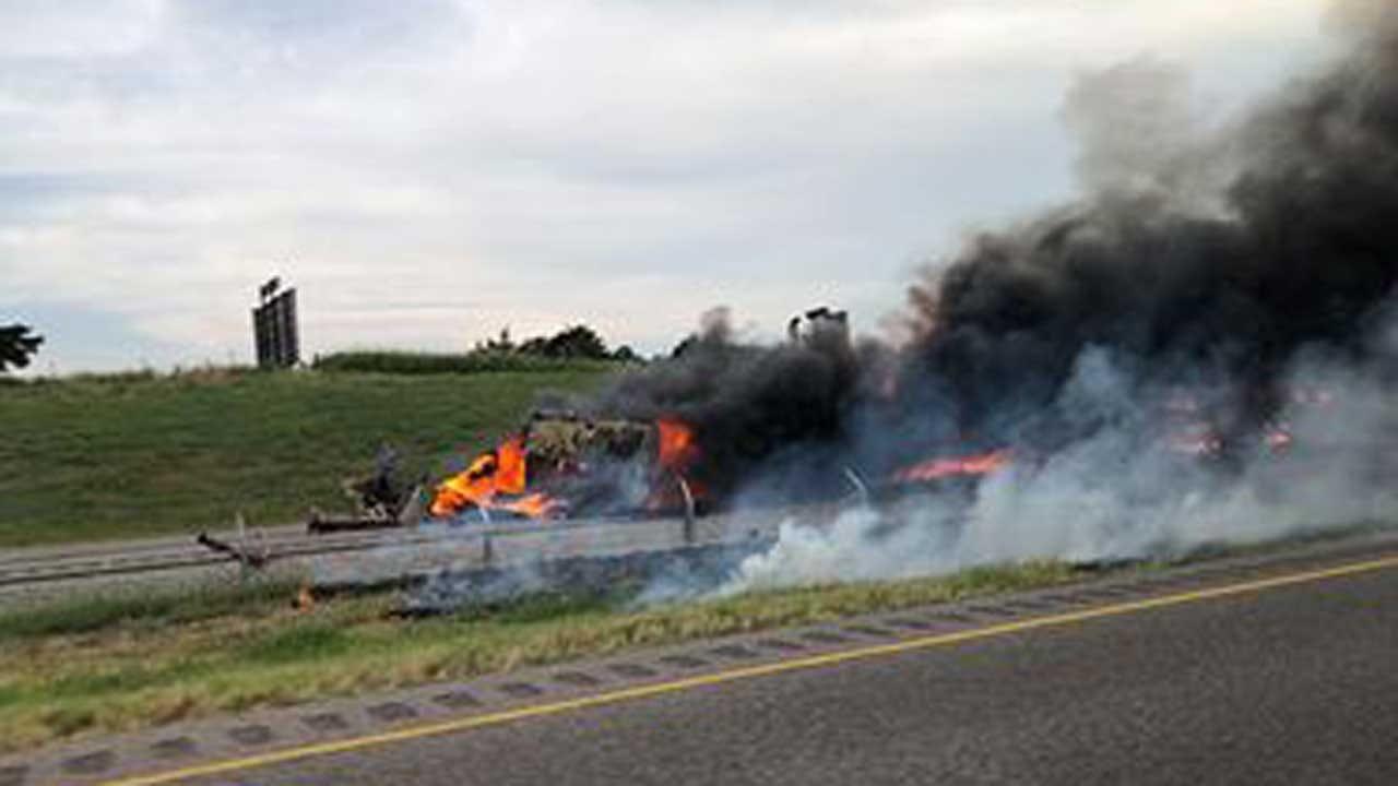 Emergency Crews Respond To Fatal Fiery Crash Near Hinton