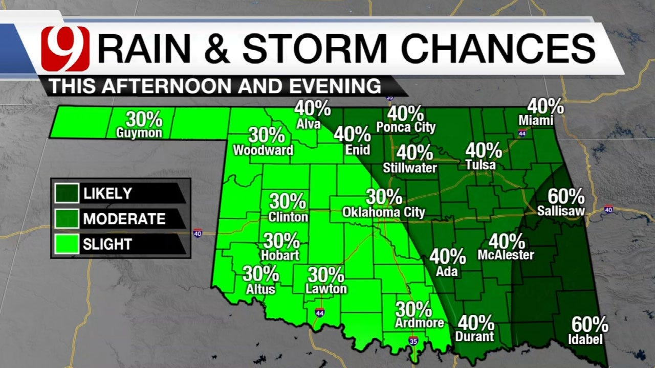 Scattered Showers And Storms Friday Through The Weekend