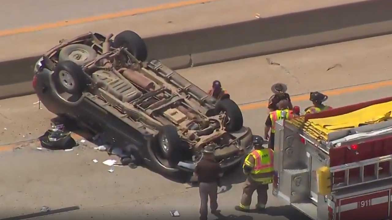Tulsa Pursuit Of Bank Robbery Suspect Ends In Crash