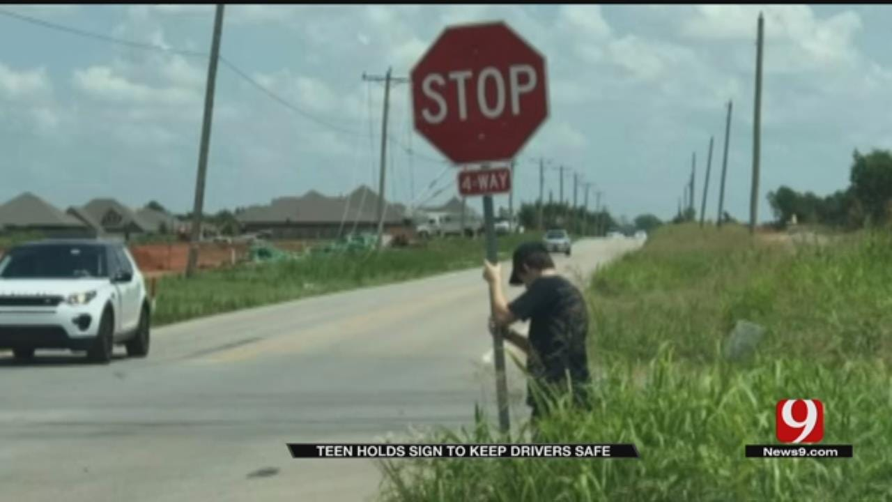 Going Viral: Teen Holds Sign To Keep Metro Drivers Safe