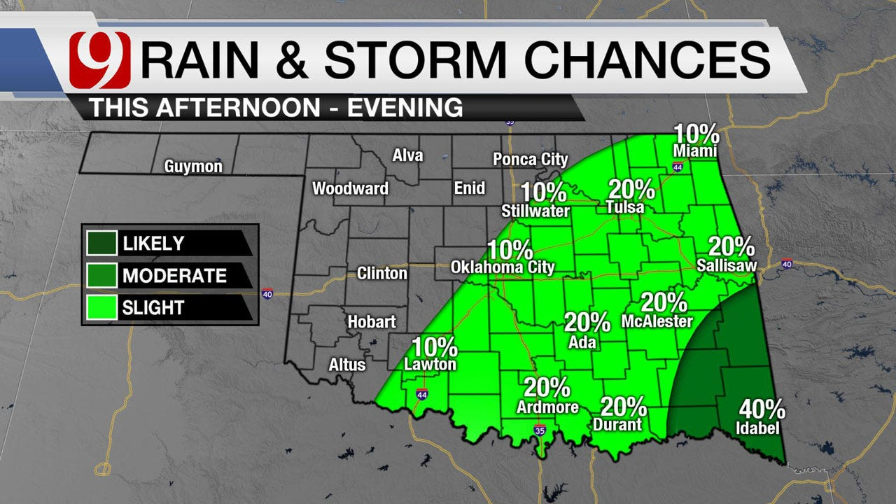 Slow Warming Trend With Rain Chances Monday Evening