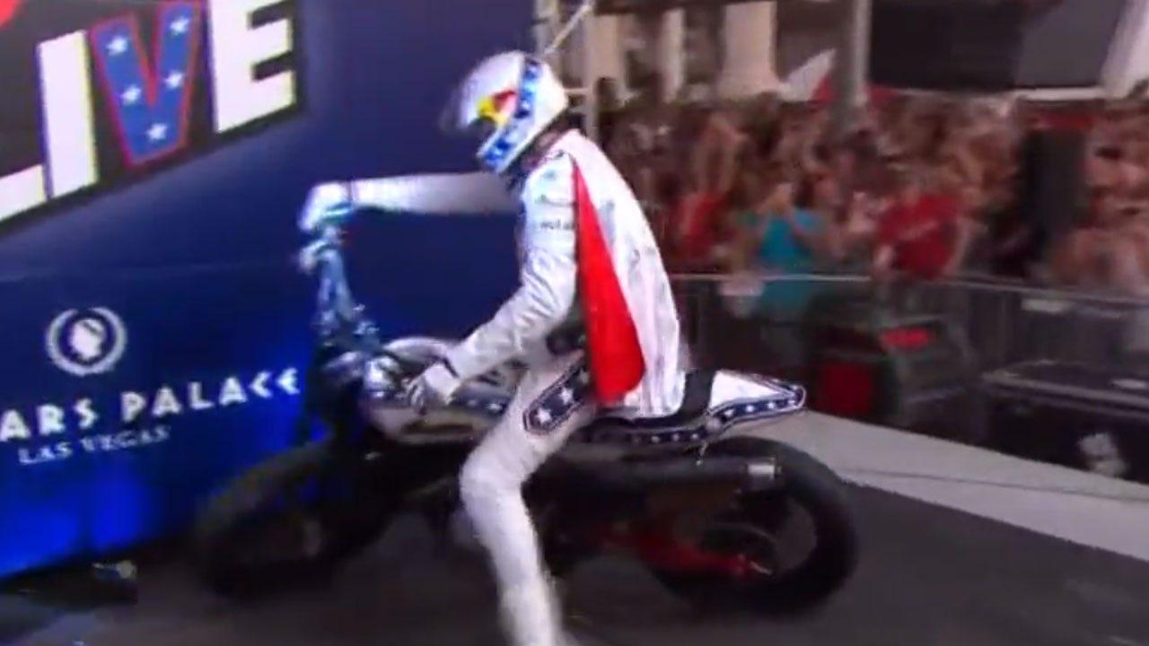 Travis Pastrana Nails Evel Knievel's Three Legendary Jumps In Las Vegas