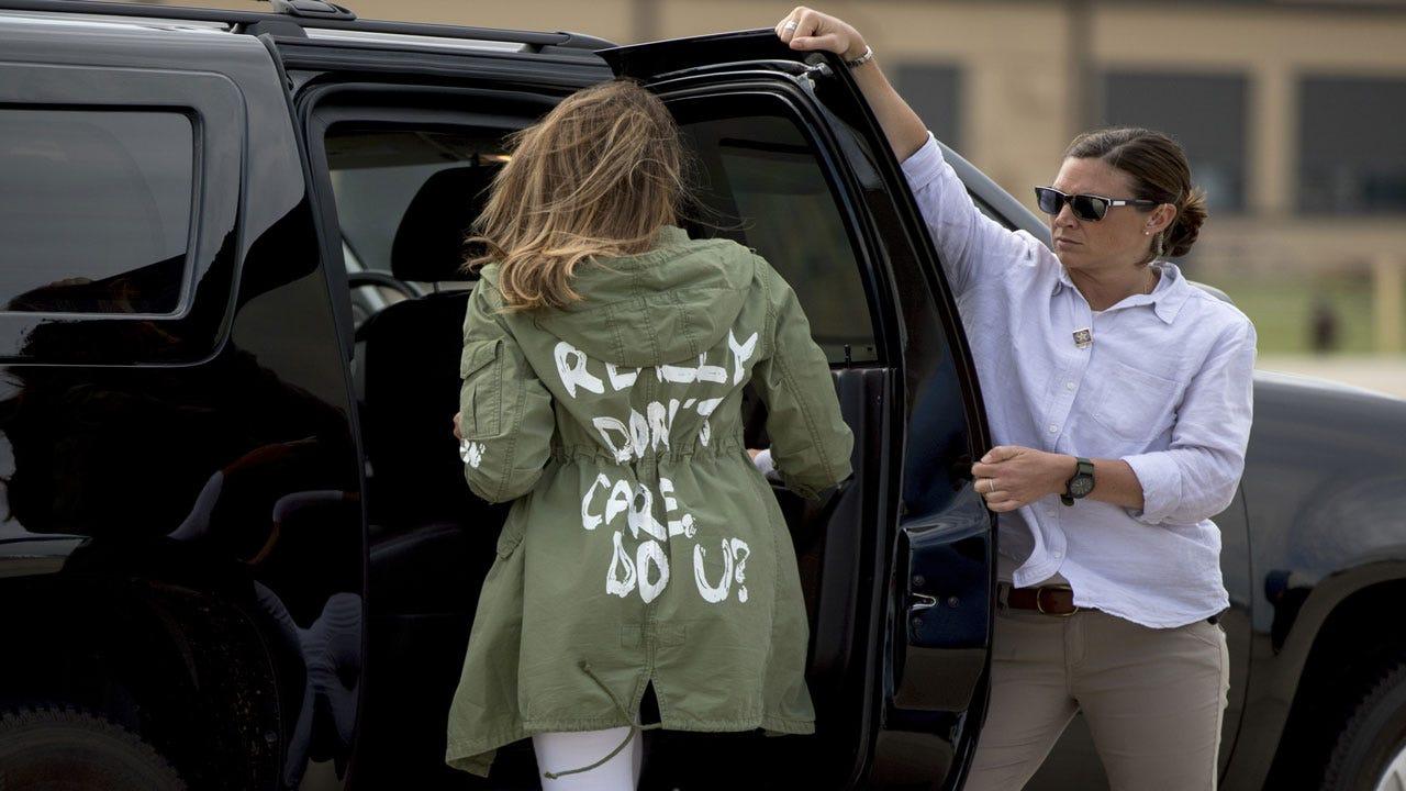 Melania Trump Says 'I Really Don't Care' Jacket Was For The Media
