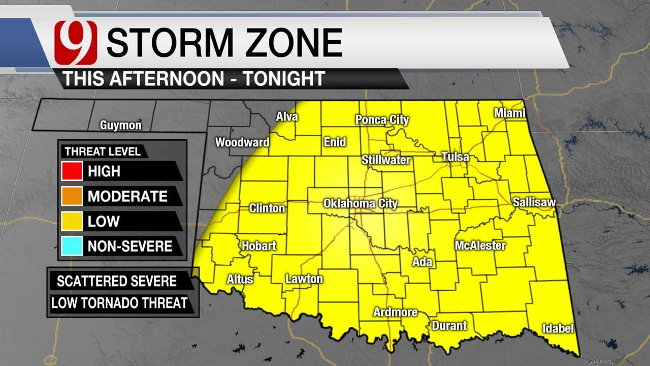 Severe Weather In Monday Afternoon, Evening Forecast