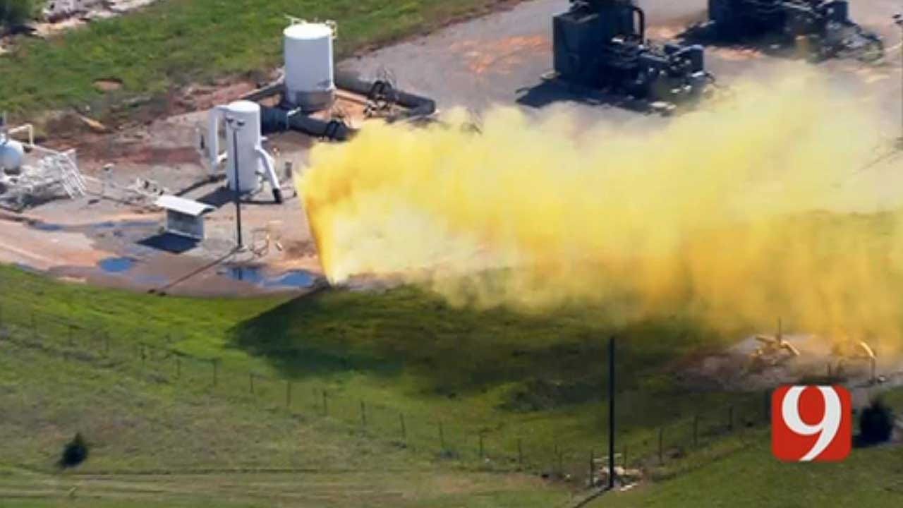 OKC Fire: Yellow Substance Spewing In NW OKC Is Crude Oil