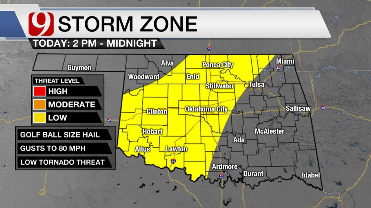 Severe Weather, Storms Likely Across Oklahoma