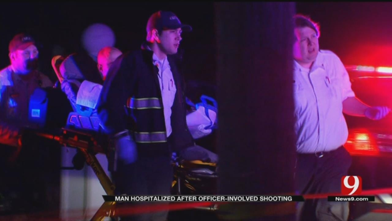 Man Hospitalized After Officer-Involved Shooting In SW OKC