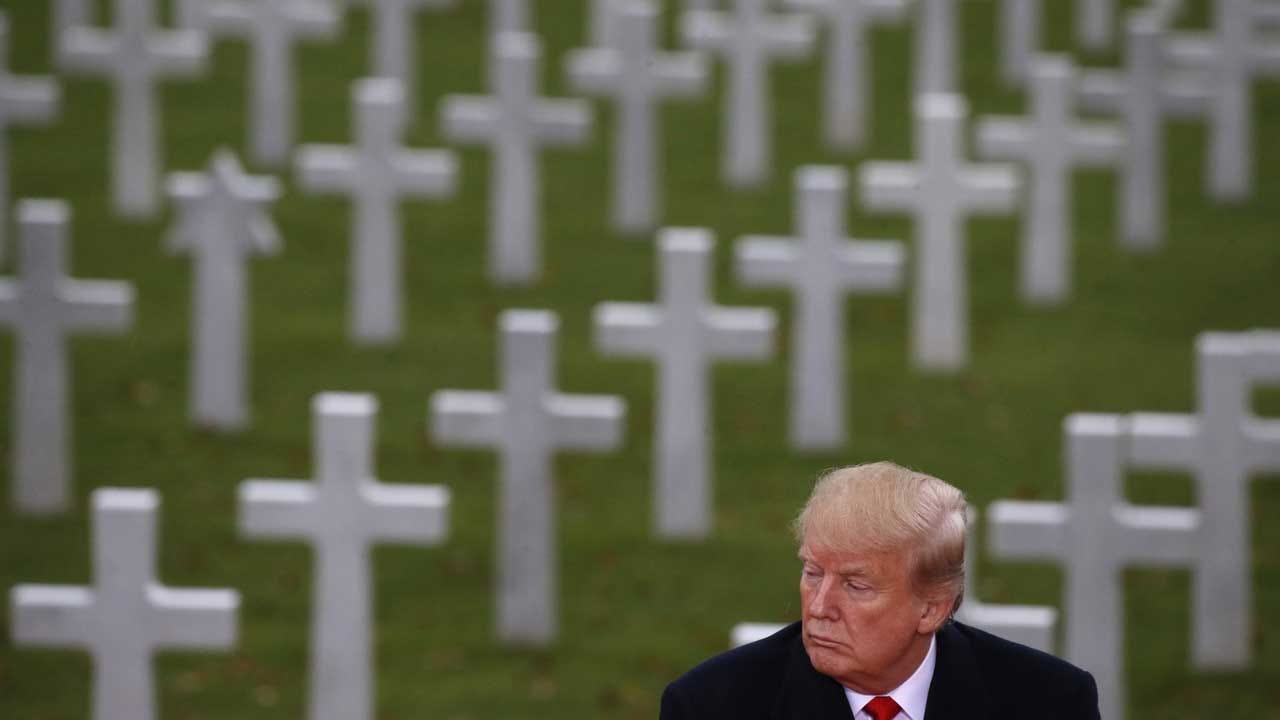 Trump Marks 100 Years Since End Of World War I With Tribute To Fallen Soldiers