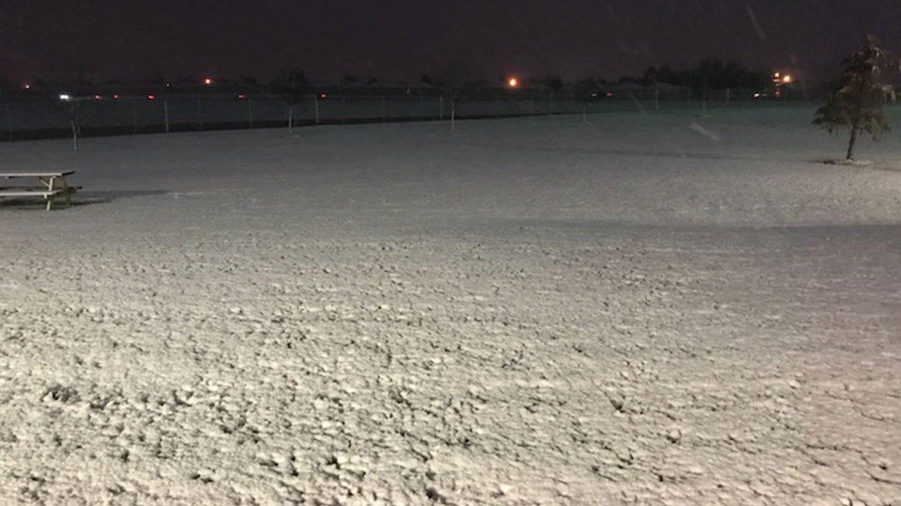 First Snow Of Season Falls Across Western, Central Oklahoma