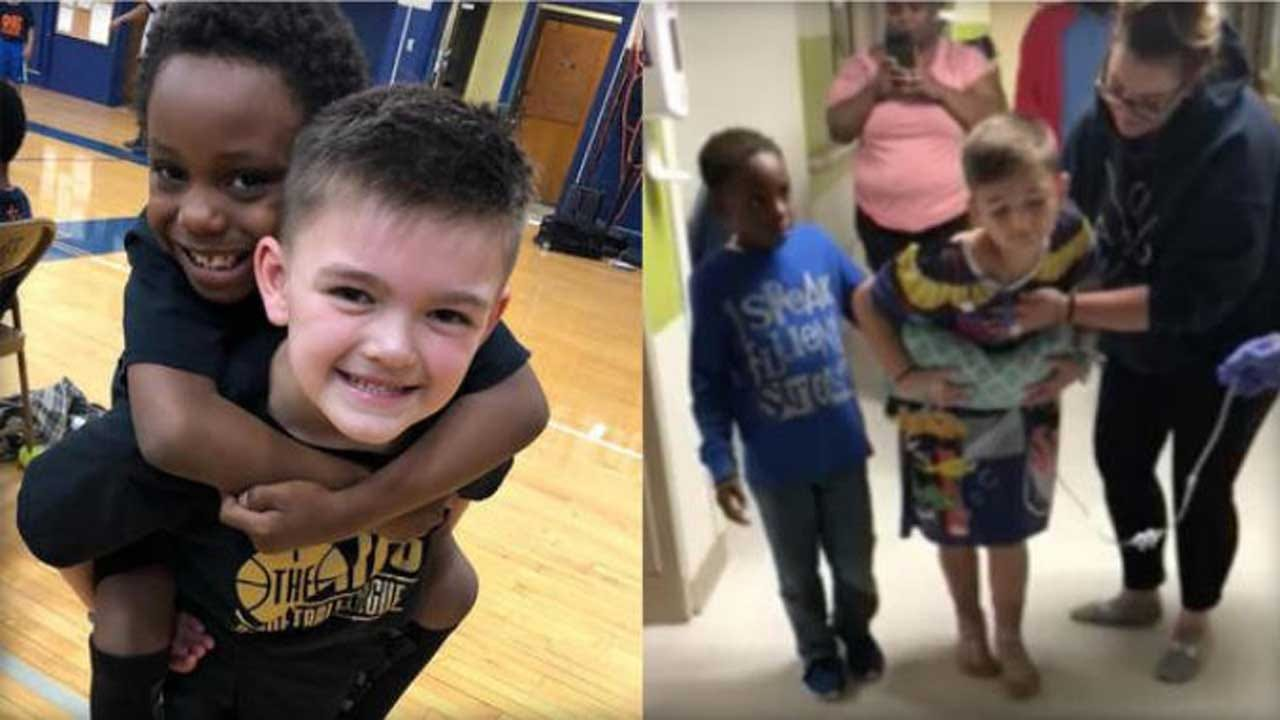 Second-Grader Inspires Best Friend To Walk Again After Car Accident