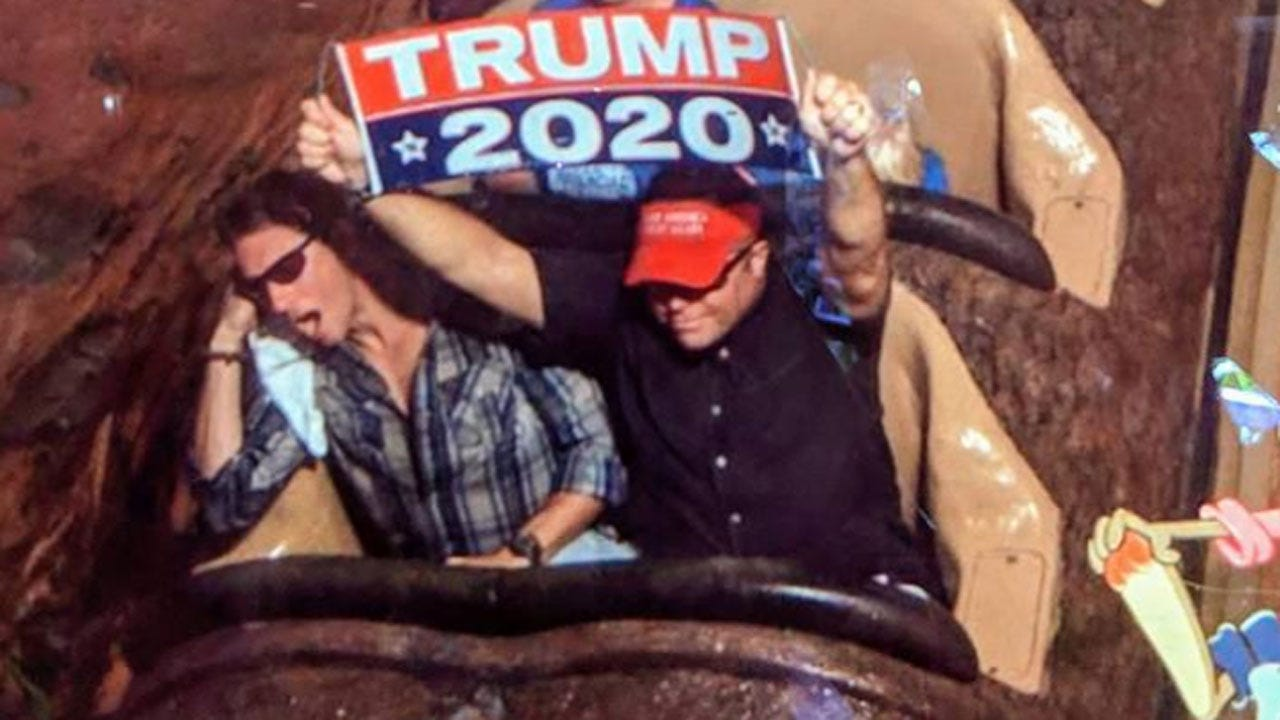 Man Kicked Out Of Disney World After Waving 'Trump 2020' Banner During Ride