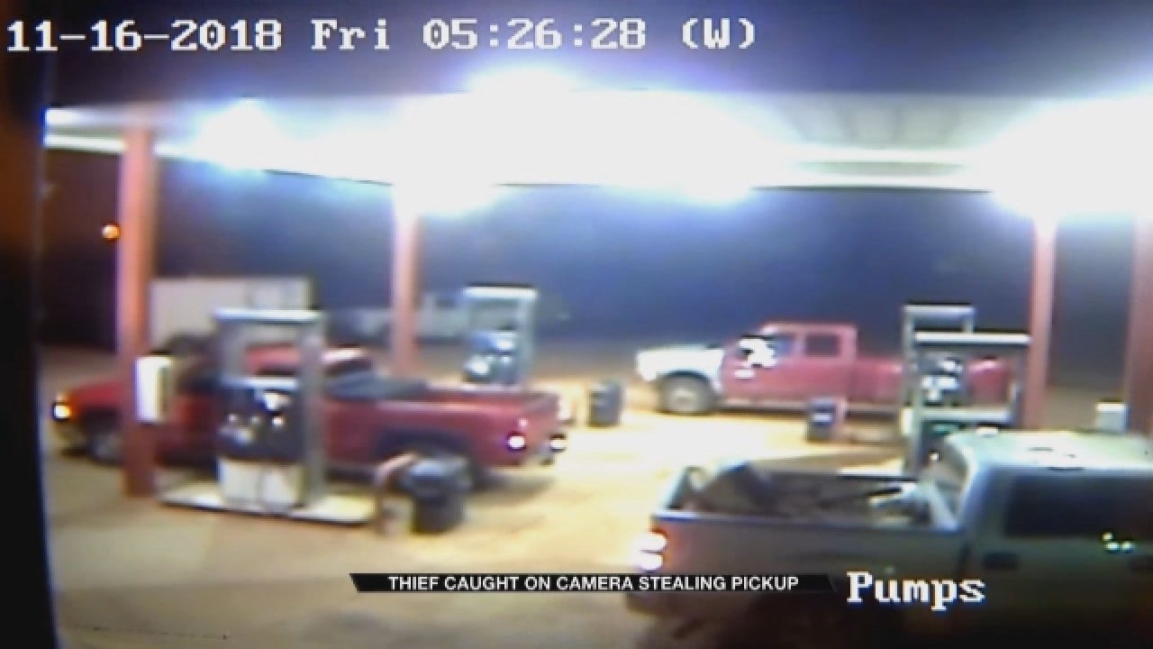 Thief Caught On Camera Stealing Pickup Truck At Meeker Convenience Store