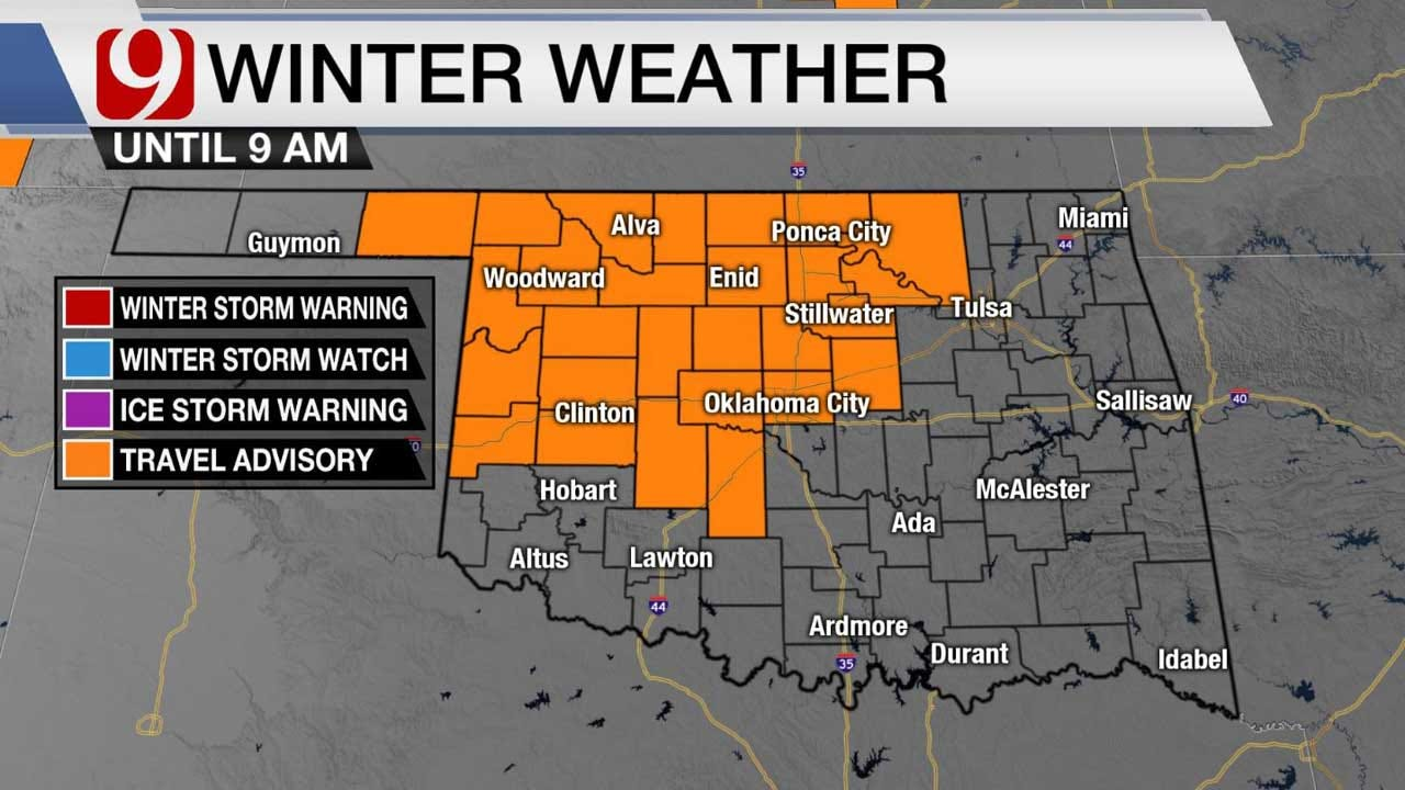 Travel Advisory In Effect, Light Freezing Drizzle To Create Possible Slick Spots