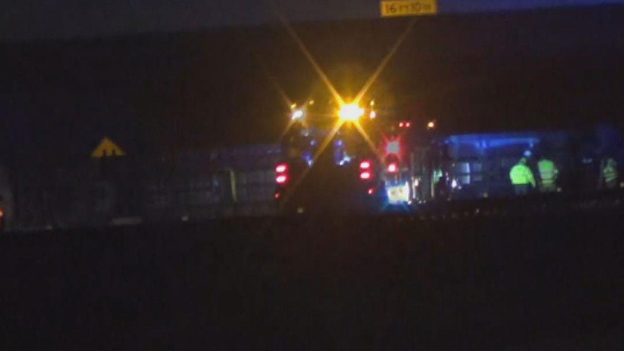 I-40 WB At Radio Road Now Open After Overnight Semi Accident