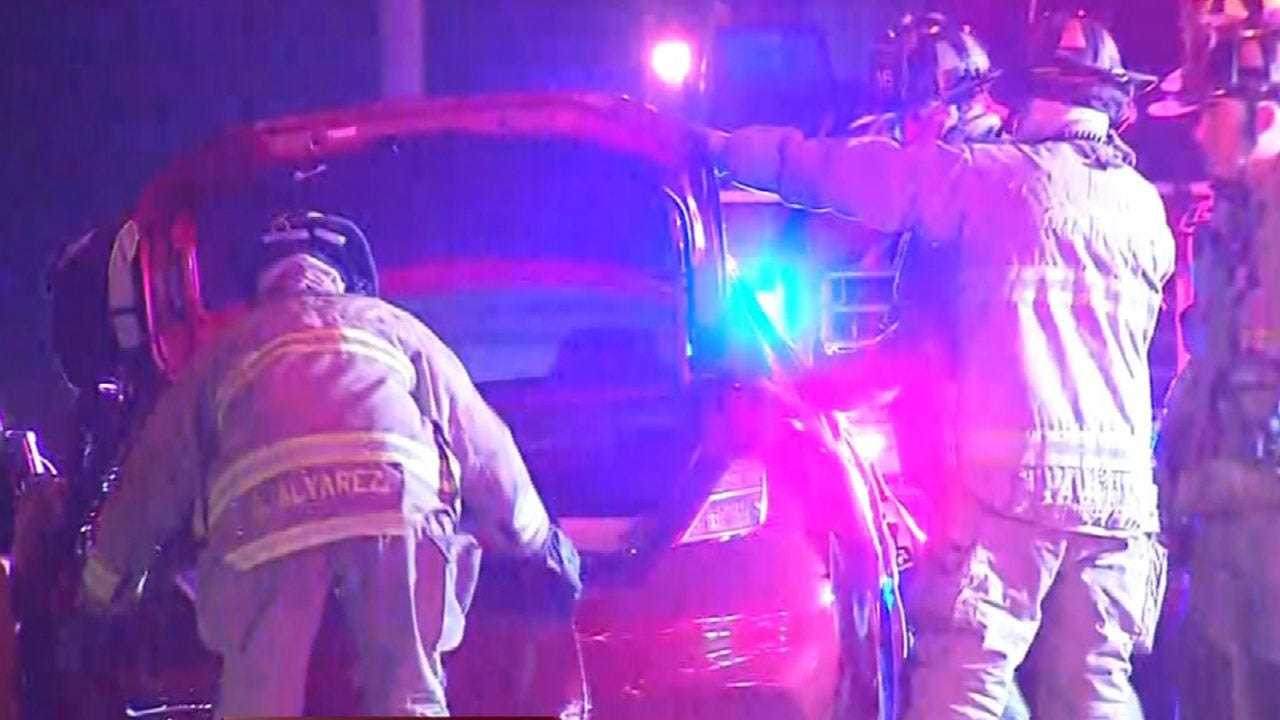 Woman Rescued From Vehicle Following Accident Near SW OKC