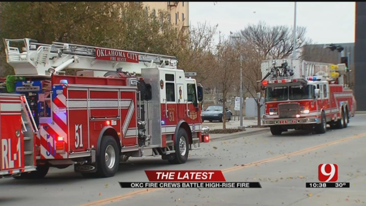 OKC Firefighters Respond To Fire At High-Rise Apartment Building