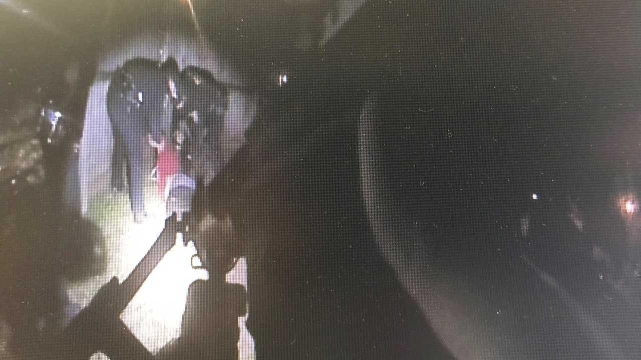 Wanted Felon Points Gun At OKC Police, Pott. Co. Deputy
