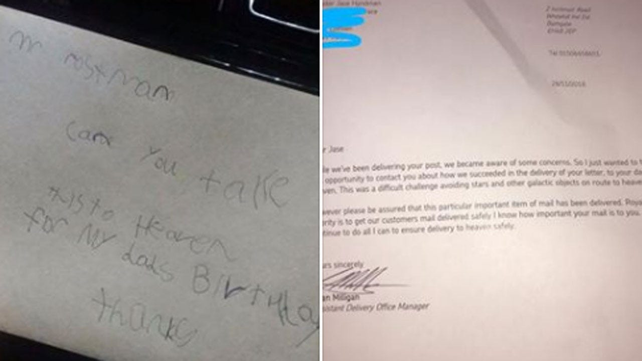 Post Office Delivers 7-Year-Old Boy's 'Letter To Dad In Heaven'