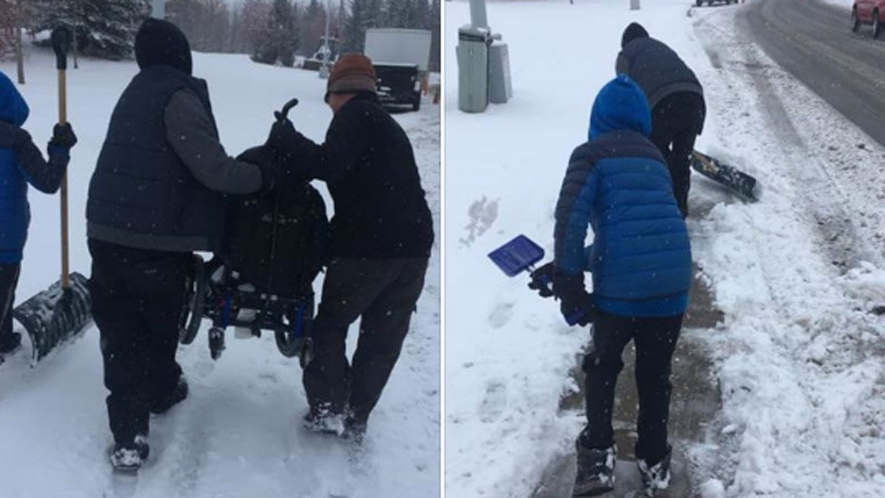 Good Samaritans Carry 6-Year-Old Boy's Wheelchair In Snow