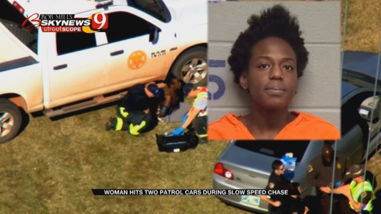 Guthrie Woman Hits Two Patrol Cars In Slow Speed Chase